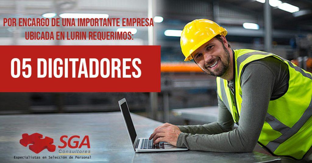 se solicita digitador en Lima trabajos en lima selección de personal lima