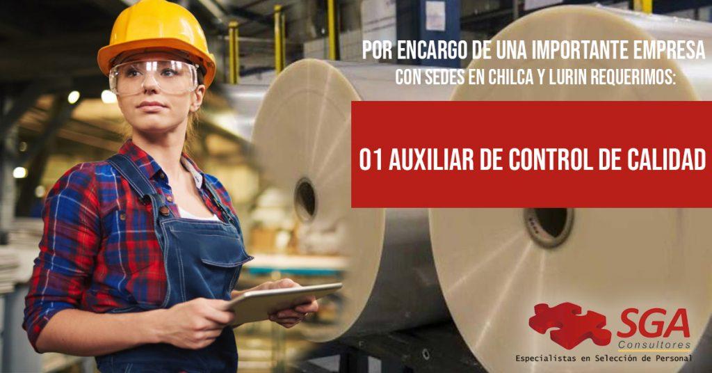 asistente de calidad auxiliar de calidad trabajo de control de calidad en lima
